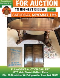 Beautiful Large Dining room Table with 2 extensions and Table Pad Brockton, 02301