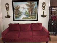 "Faux Suede Sofa well taken care of   6'9"" long ; deep 31""; height 29"" Covina, 91722"