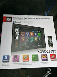 Car Dual Multimedia DVD receiver with Bluetooth XDVD256BT box Winnipeg, R3E 2E3