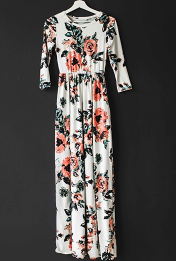Long Floral Printed Long Sleeve Maxi Dress be2801f9-3ee7-4208-86a4-2cc6141ccc85