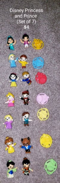 Disney princess and prince (set of 7) - $4 Toronto, M9B 6C4