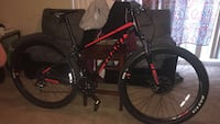 black and red hardtail bike 47 km