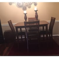 rectangular brown wooden table with six chairs dining set Woodbridge, 22193