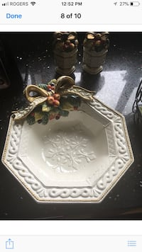 Fitz & Floyd Canapé plate with bowl and decorations Mission