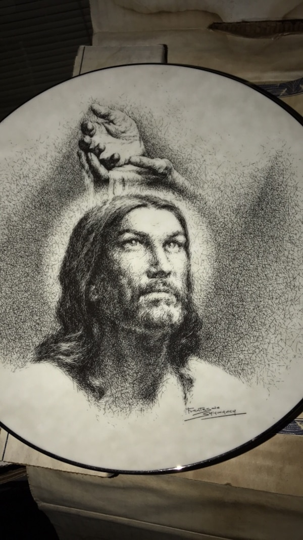 Portrait of Christ. Knowles China plate 0f19cbba-7651-4e28-aaba-5fa66061d70c