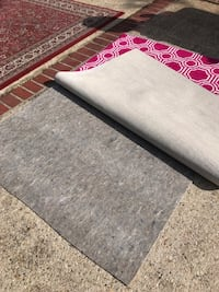 Pink and White Area Rug and Pad Slidell, 70461