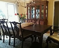 Amazing. Table 8 chairs and hutch . mint cond