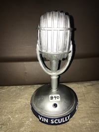 Vin scully brooklyn dodgers los angeles dodgers microphone battery operated multiple phrases