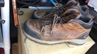 pair of brown leather work boots 1183 mi
