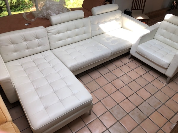 Surprising Offers Are Acceptable White Leather Asking 870 2 Piece L Shape Sofa And A Single Couch Easy Assembly 3 Seat Yellow Suede Couch 570 Two Seat And Creativecarmelina Interior Chair Design Creativecarmelinacom