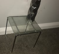Black metal base glass top tables Henderson, 89074