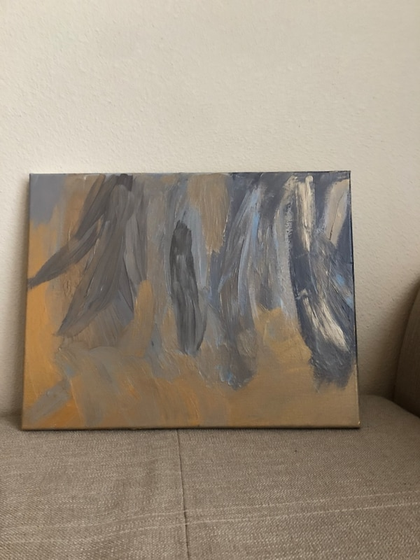 Blue And Gold Abstract Painting