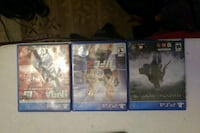 three assorted-title Sony PS4 cases 1360 mi