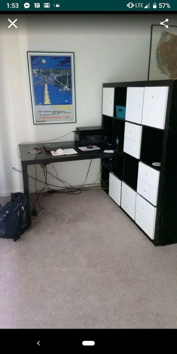 Used Ikea Desk With Cubbie Storage For In Anderson Letgo