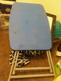 Blue plastic folding table  Idaho Falls