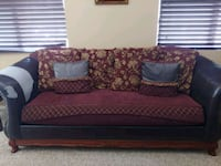 red and black floral sofa Buckeye, 85326