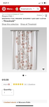 Shower curtain and hand towels Fort Erie, L0S 1N0