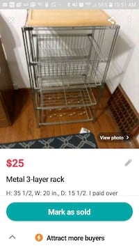 Metal Kitchen Rack
