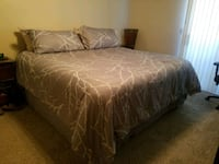 King size bed with Temperpedic boxes & frame