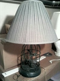 black metal base with white lampshade table lamp Coloma, 49038
