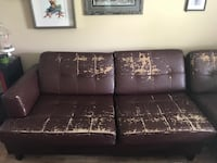 black leather tufted sectional sofa Calgary, T2N