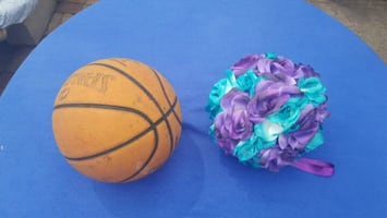 Flower ball turquoise and purple