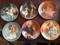 Six assorted ceramic decorative plates Baltimore, 21220