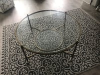Glass coffee table with gold accents  Toronto, M8V 1T7