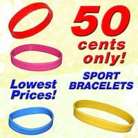 Sports Bracelets (Silicon Bangles) **2019 CLEARANCE SALE STOCKS, ALL MUST GO! LOWEST PRICES!** Singapore