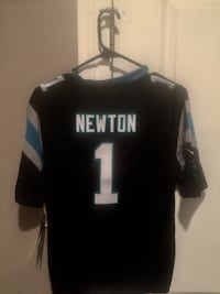 Brand New Youth Small Authentic Cam Newton Jersey Everything Stitched Terrytown, 70068