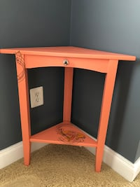 Custom painted, one of a kind corner table. Add interest to any room. North Potomac, 20878