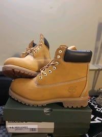 pair of brown Timberland work boots District Heights, 20747