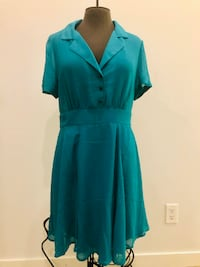 Vintage-look Chiffon Dress Sz M BURNABY