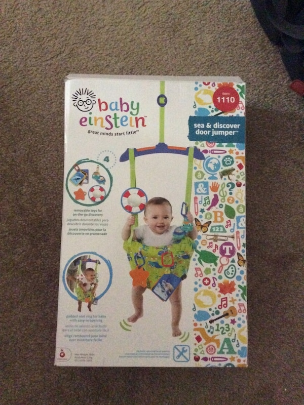 678cbf024 Used Baby Einstein Sea   Discover Door jumper box for sale in ...