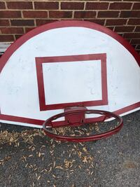white and red basketball hoop Hagerstown, 21740