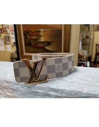 Louis Vuitton belt gently used size 32-34 for sale