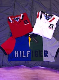kids tommy polos top two shirts each $25 bottom never worn $45 Mississauga, L4Z