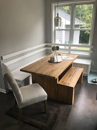 Restoration Hardware reclaimed Russian oak table and bench  Minneapolis, 55405