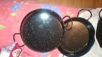 two black none stick frying pans Woodbridge, 22192