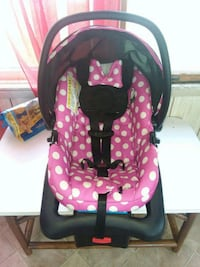 baby's pink and black car seat carrier Ridgely, 21660