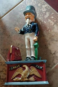 Uncle Sam Metal coin bank Elizabethtown