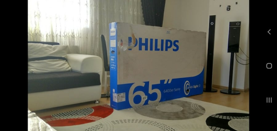 65 inç Android Philips 165 ekran 4k Amblight Tv 3