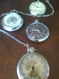 two round silver-colored pocket watches Desert Hot Springs, 92240