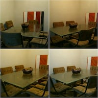 Large Glass Dining Room Table With 6 Matching Chai North Charleston, 29418