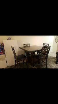 rectangular brown wooden table with six chairs dining set Alexandria, 22306