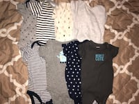 8 Baby boy onesies set | rarely used | Good condition | Size: 3 to 6 months  Silver Spring, 20906