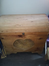 Wooden Chest with Heart Cut-Out Ottawa, K1L 7P7