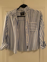Abercrombie xs striped button up