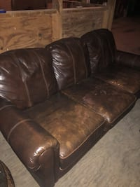 Leather couch Manchester