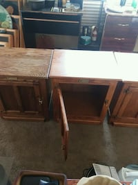 two brown wooden side tables Las Vegas, 89120